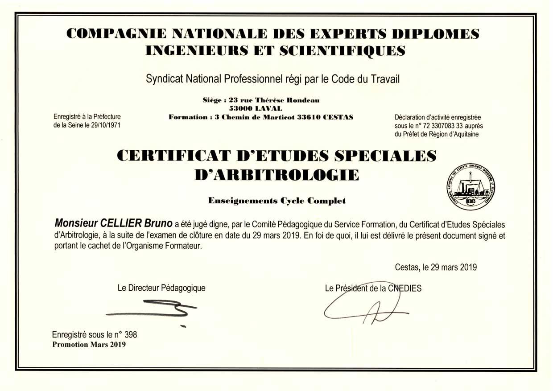 Certificat en arbitrologie